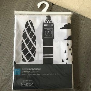 Shower Curtain Black and White